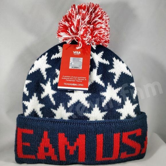 e8a6fd41bba7d Official Team USA 2018 Olympics Beanie Ski Cap Hat